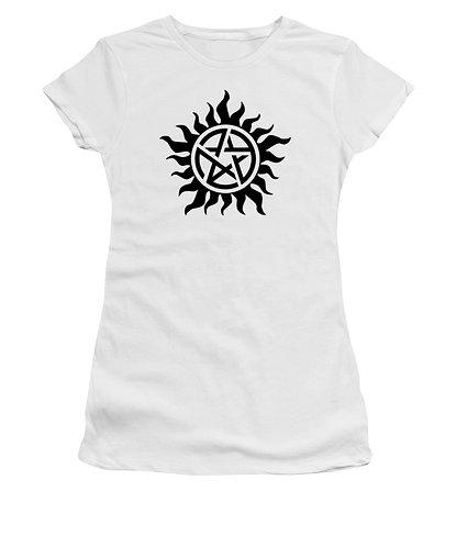 Supernatural Ipurgatory Anti-Possession Black Symbol Women's Tank Top or T-Shirt