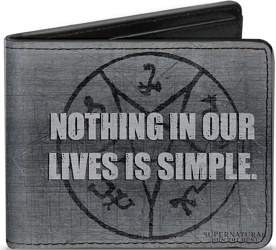 Supernatural Ipurgatory Nothing Lives Is SImple Gray Bi-Fold Wallet