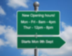New opening hours MK Cycles