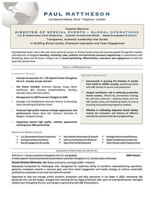 Sample_Global Event Operations Executive
