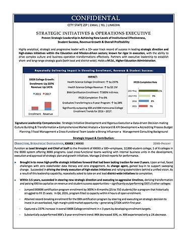 Education Strategic Initiatives Executiv