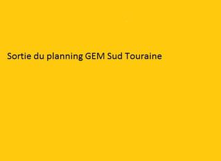 Planning du GEM Sud Touraine de Novembre 2019
