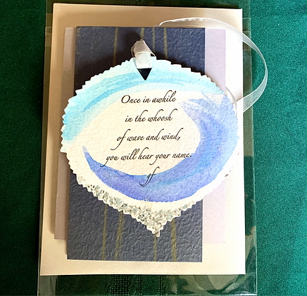 "Peace Leaves One-of-a-Kind card ""Once"""