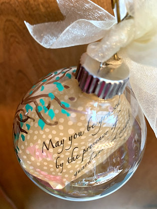 "Glass Poetry Ornament ""May You Be Graced"""