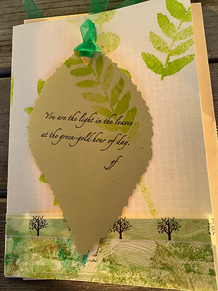 """Card: One-of-a-kind """"You are the light"""""""