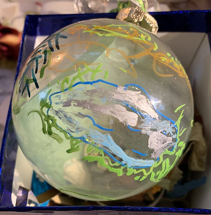 """Glass Poetry Ornament """"Look"""""""