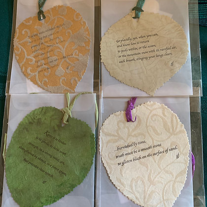 Peace Leaves  Learn As You Grow Set of 4