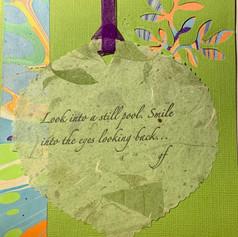Custom collage card with letterpressed poem. $7