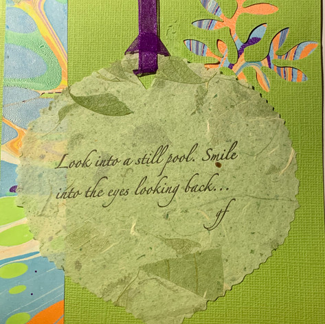 Custom collage card with letterpressed poem. $7