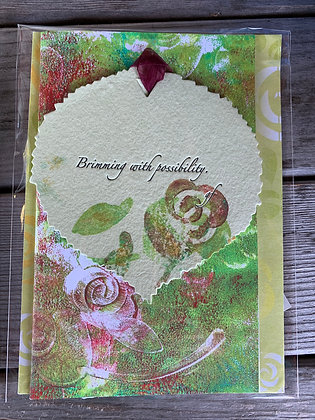 "2 card ""Brimming with Rose"" series"