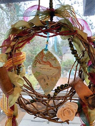"""Peace Leaves Wreath: """"Imagine a Winged Season"""""""