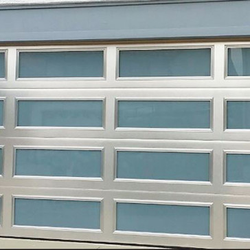 Brushed Aluminum Door with windows