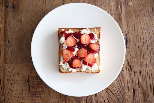 Brioche open sandwich