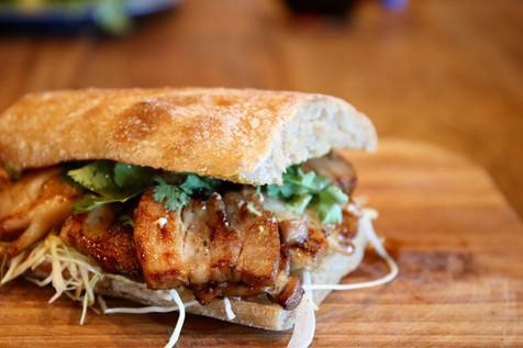 Cha-syu-pork sandwich