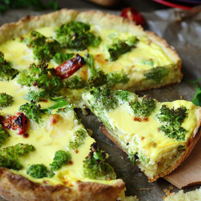 Torta de Brócolis Vegana e Sem Glúten