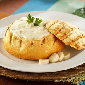 Sopa de Palmito no pão
