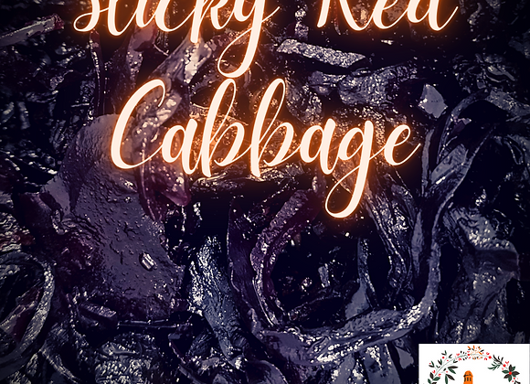 Sticky Red Cabbage with Raisin & Sesame