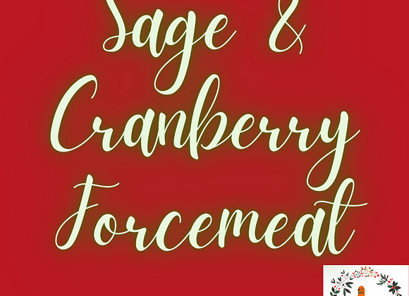 Sage & Cranberry Forcemeat