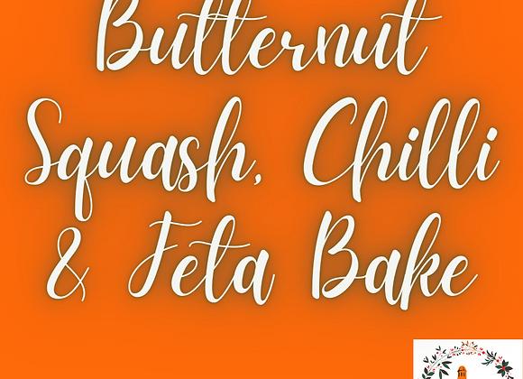 Butternut Squash, Chilli & Feta Bake