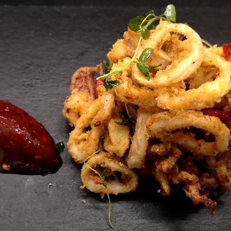 Salt, Chilli & Thyme Baby Squid with Farraday's Habanero Relish