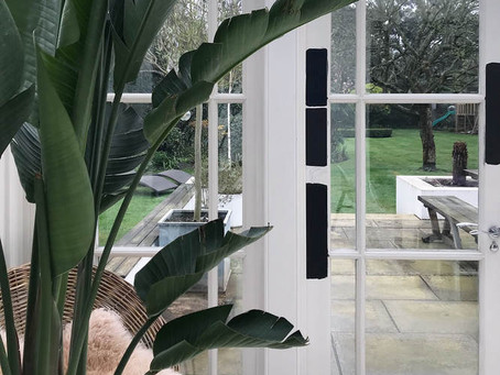 Window Makeover - from white to black