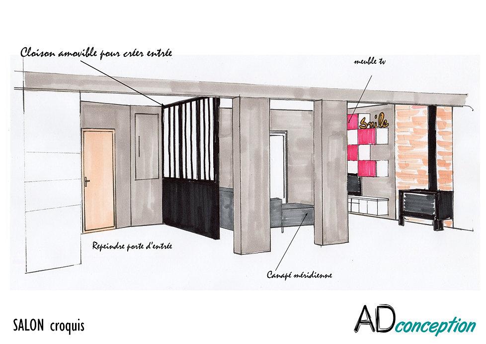 ... Adconception Cr Er Une Entr E Red Corer Salon For Creer Une Entree Dans  Une Maison ...
