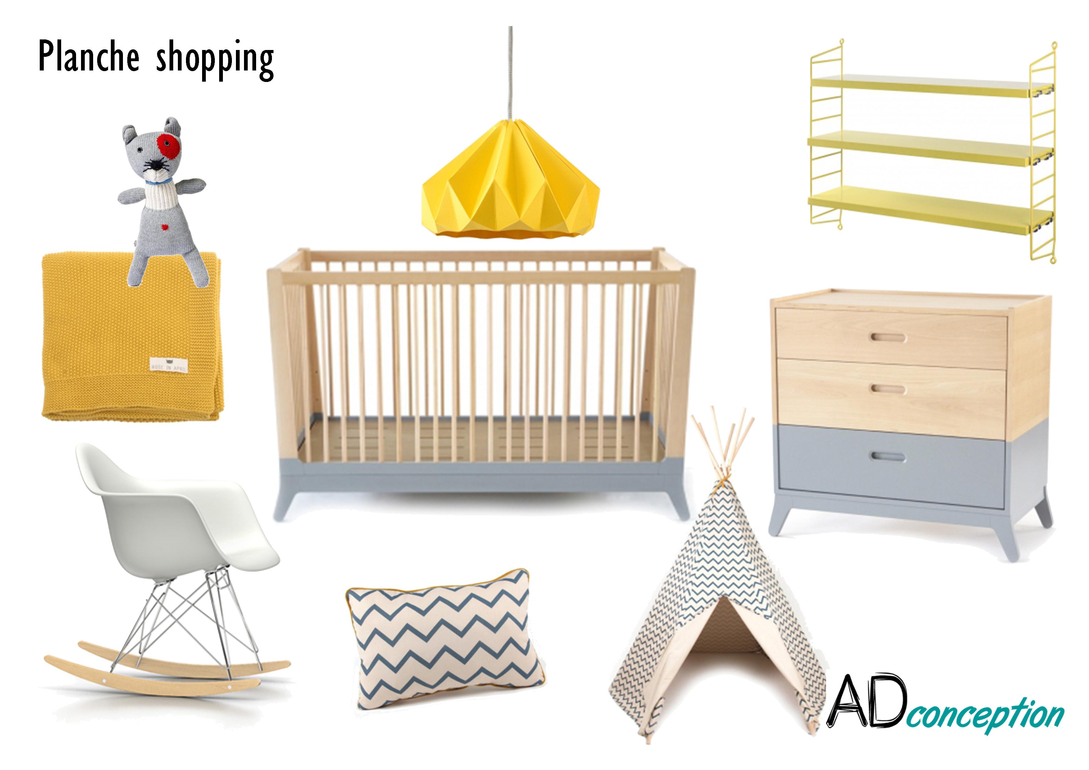 Planche shopping chambre baby boy