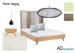 Planche shopping chambre adulte