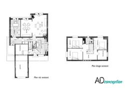 Plan existant  Maison d'Architecte