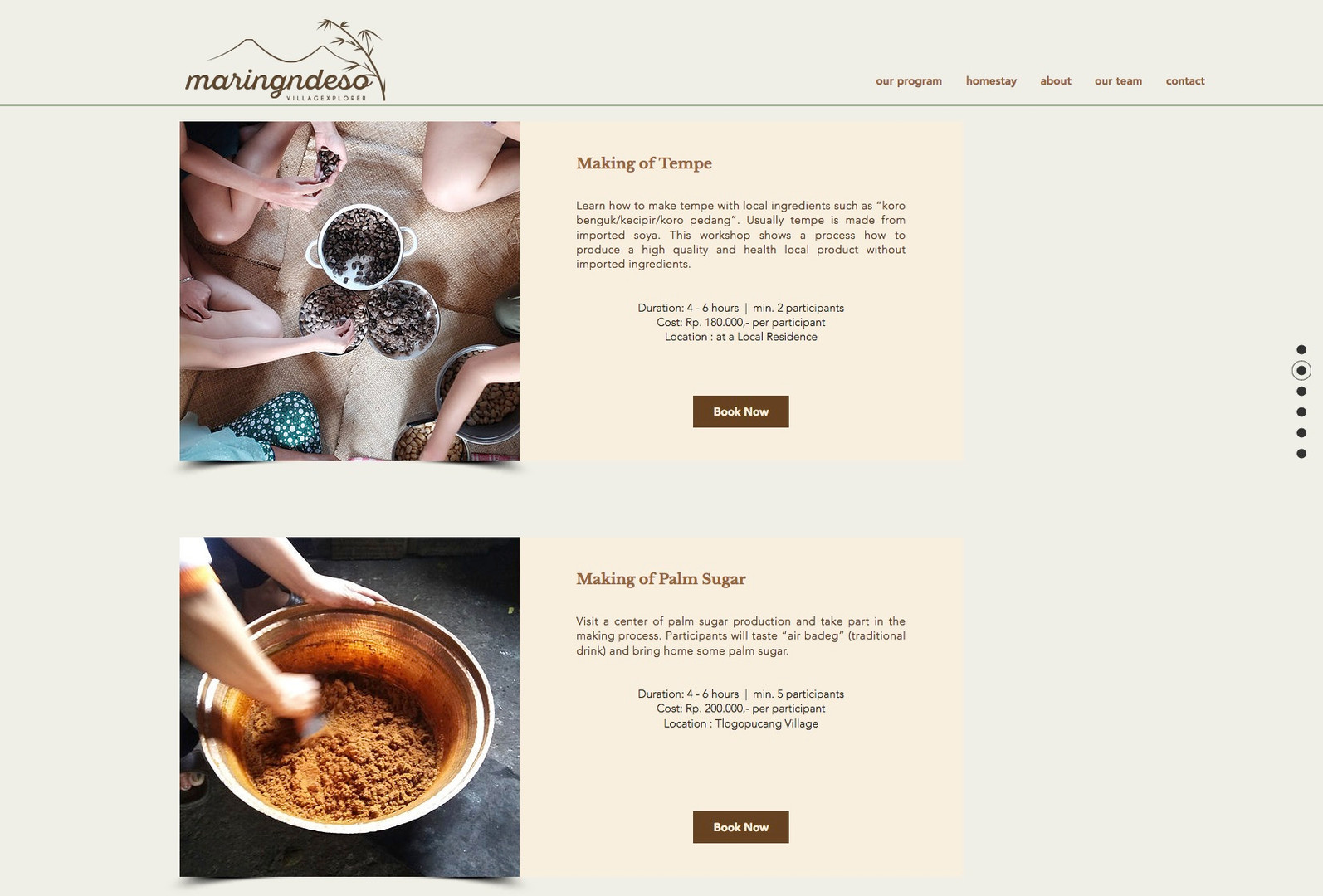 Maring nDeso Website