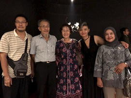 with my relatives: Mr. Kerta, Mr. Khong, Ms. Licu and Ms. Ratih