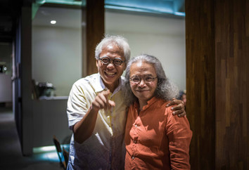 Mr. Popo Danes the architect & Mr. Bred Redana the writer/journalist
