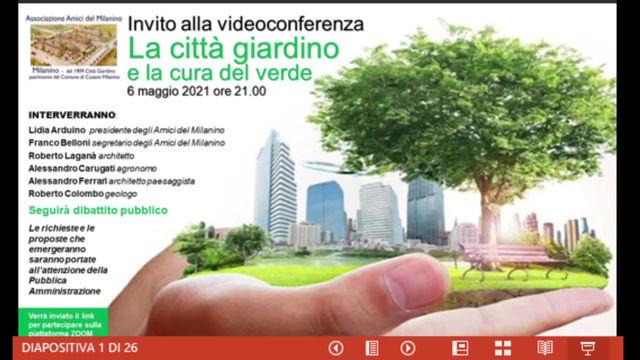 1. La città giardino e la cura del verde. Introduzione