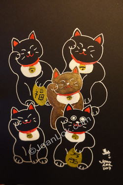 Five Lucky Cats