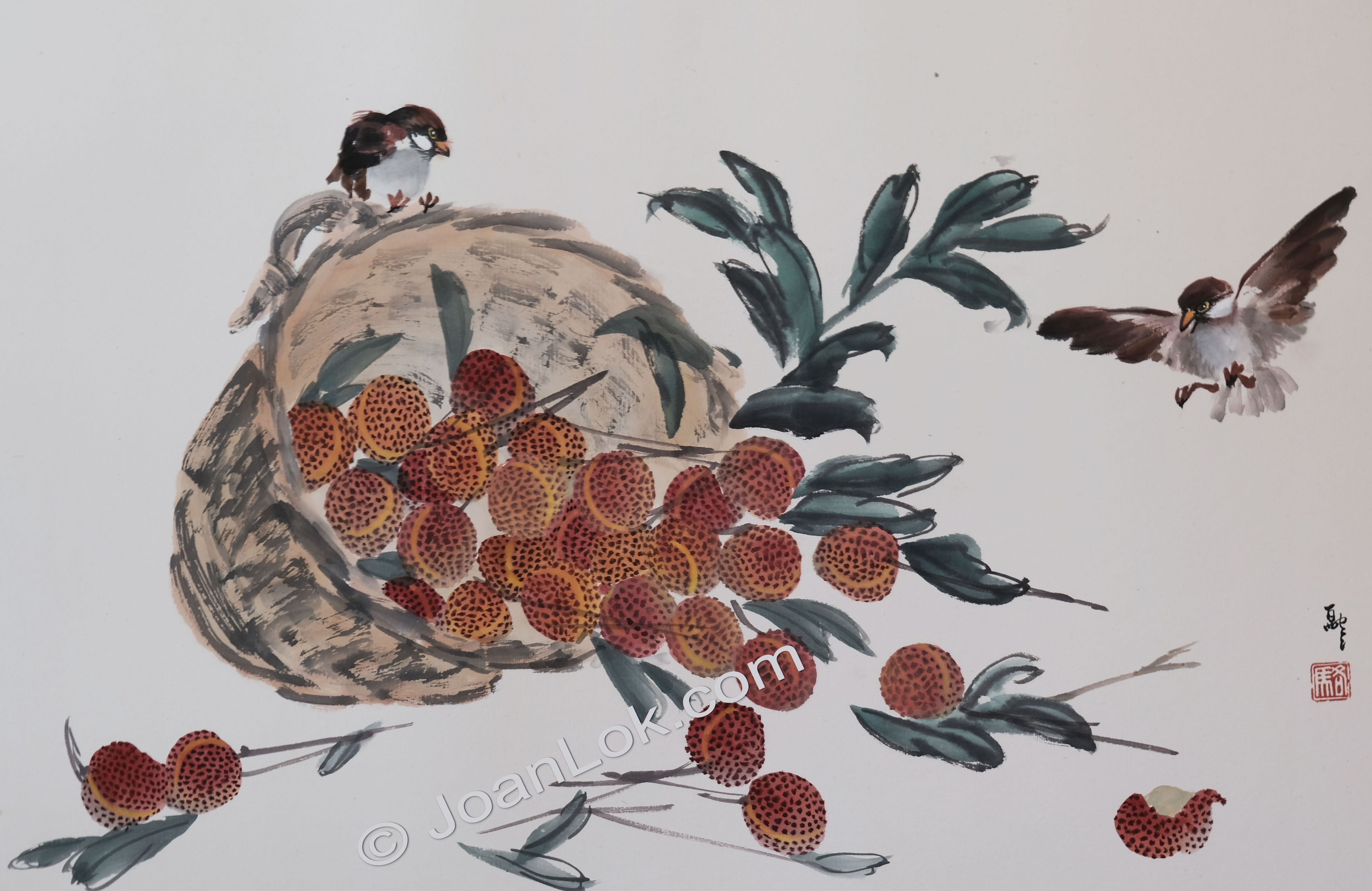 Lychee and Sparrows