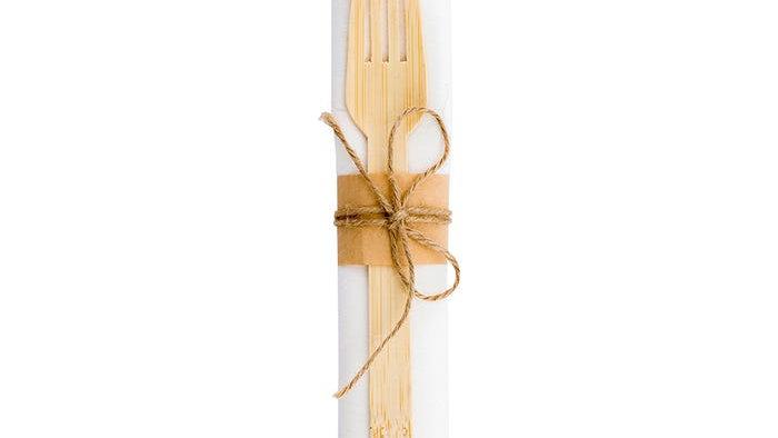 Twine-tied Bamboo Cutlery Set