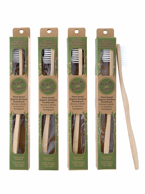 Bamboo Toothbrushes (Adult)
