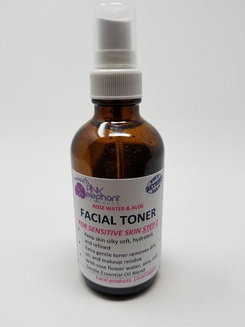 Rose Water and Aloe Toner for Sensitive Skin