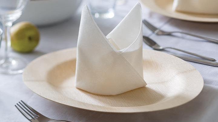 White Luxury Square Bamboo Dinner Napkins