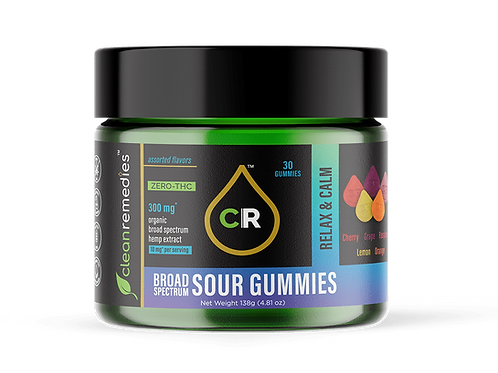 CBD Sour Gummies - Relax & Calm