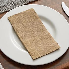 Linen Feel Burlap Print Dinner Napkin 2.