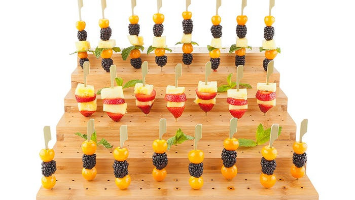 Stepped Bamboo Pick Stand/Skewer Holder