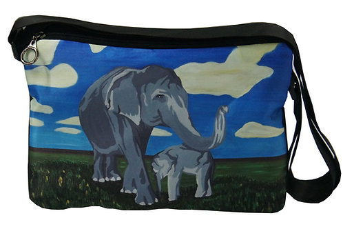 'Gentle Giants' Elephant Messenger Bag