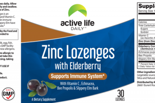 Zinc Lozenges with Elderberry