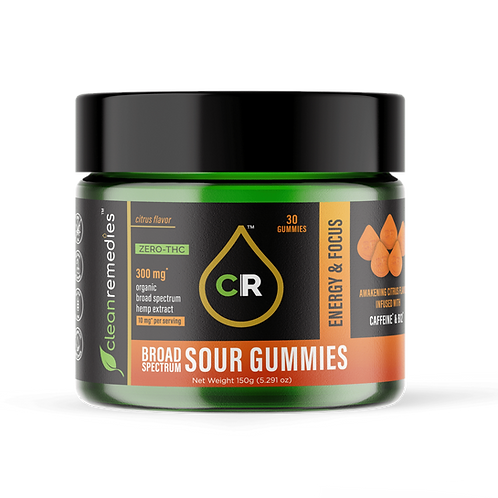 CBD Sour Gummies - Energy and Focus