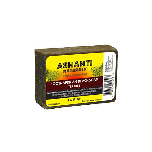 Ashanti African Black Soap w/ Tea Tree
