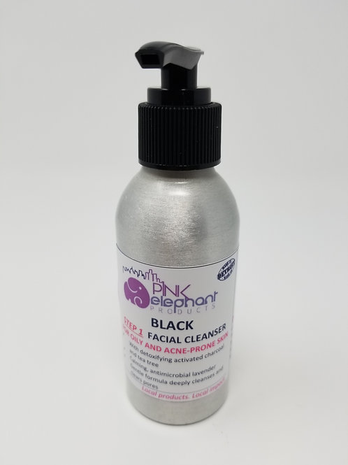 Black Facial Cleanser for Oily/Acne Prone Skin