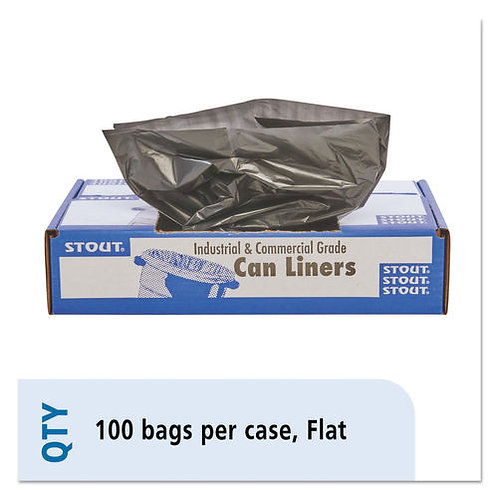 100% Recycled Trash Bags (Black)