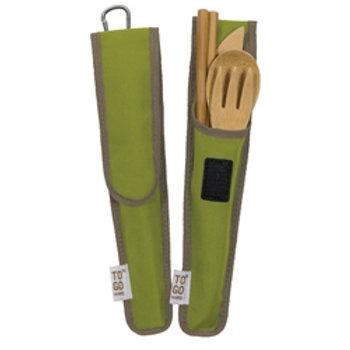 On-the-Go Bamboo Utensil Set