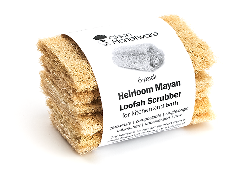 Heirloom Mayan Loofah Scubbers (6-pack)